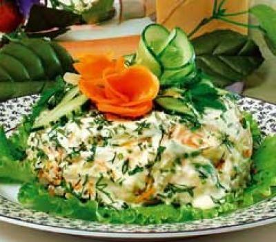 Салат цикорий со сливками