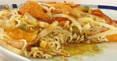 Салат из китайской лапши с мандаринами