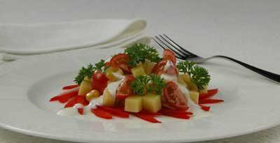 Салат из кукурузы с сыром