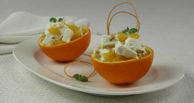Апельсины, фаршированные мороженым