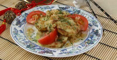 Жареные кабачки с луком