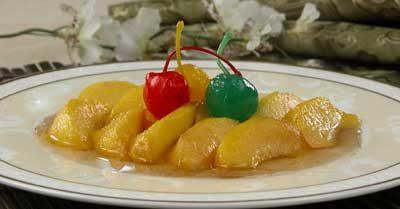 Засахаренные персики