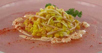 Рисовый салат с паприкой