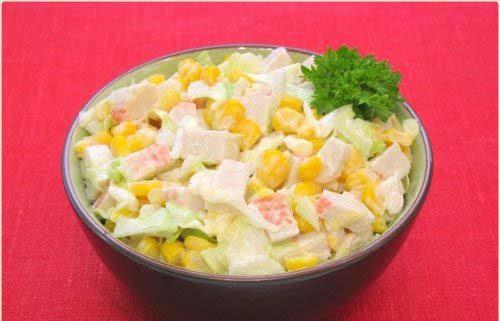 Салат из кукурузы с майонезом
