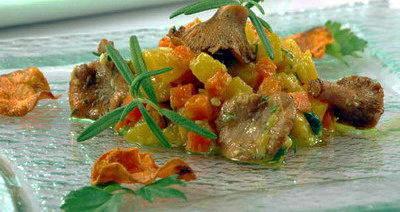 Овощи жареные под горчичным соусом