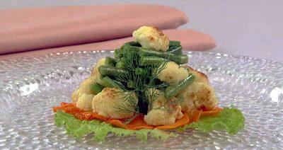 Фасоль, жаренная с овощами
