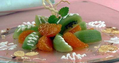 Салат мандариновый с киви