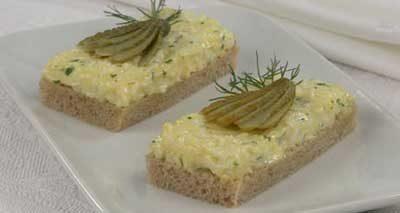 Бутерброды яичные с сыром