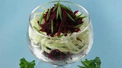 Салат из редьки со свеклой