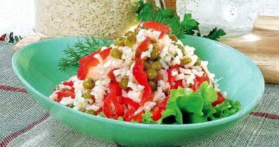 Салат из риса с красным перцем