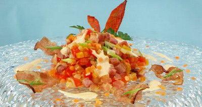 Салат с чечевицей и овощами