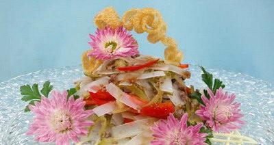 Салат с китайской лапшой