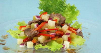 Салат с почками