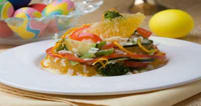 Салат куриный с апельсинами