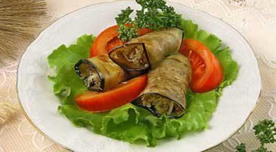 Баклажаны с сыром и овощами