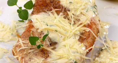Филе цыпленка с сырным соусом