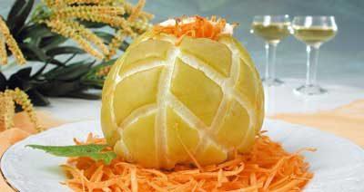 Яблоки, печенные с морковью