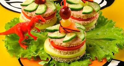 Бутерброды-пирамидки