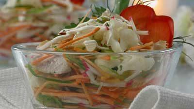 Салат из цыпленка с овощами