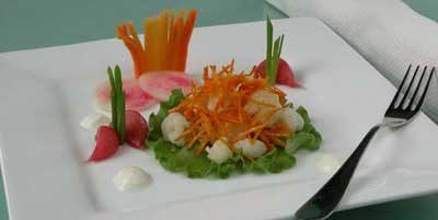 Закуска с морковью и чесноком