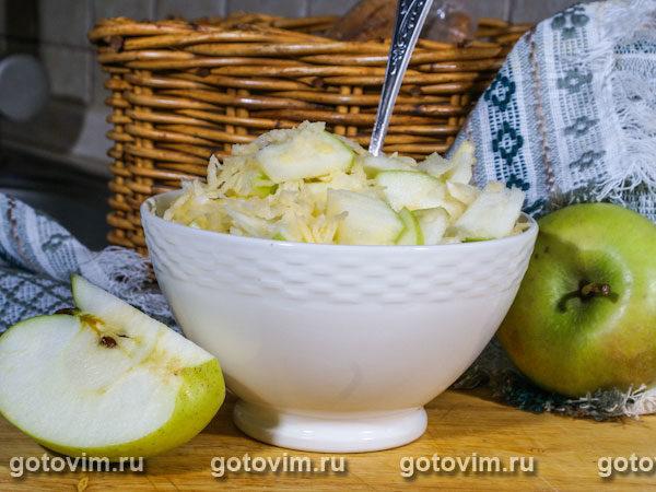 Салат из репы с яблоками